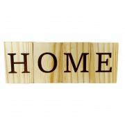 Porta Velas Bloquinhos em madeira de reflorestamento, 28 cm, Lettering Home