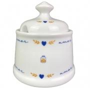 Açucareiro 300g, em porcelana, coleção exclusiva Poções de Amor