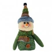 Boneco de Neve Pelúcia verde