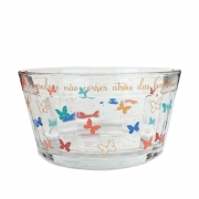 Bowl Butterfly em vidro, 600 ml