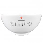 Bowl em porcelana, 400 ml, coleção exclusiva PS I love you