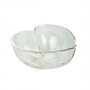Bowl Heart em vidro martelado, 250 ml, 12 cm