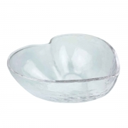 Bowl Heart em vidro martelado, 400 ml, 15 cm
