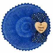 Box Azul Bic c/ mini patchwork Oh Happy Day c/ 6 peças