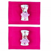 Box Boho Chic Pink Floral 2 Lugares c/ 6 peças