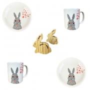 Box Café da Manhã Bunny Boy c/6 peças, coleção exclusiva Jardim de Páscoa