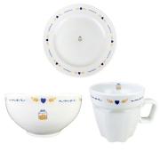 Box Café da Manhã c/3 peças em porcelana, coleção exclusiva Poções de Amor