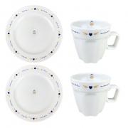Box Café da Manhã c/4 peças em porcelana, coleção exclusiva Poções de Amor