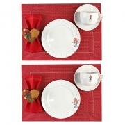Box Café da Manhã Garden Roses, dupla face, edição especial Dia das Mães c/12 peças,