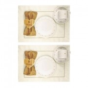 Box Café da Manhã com 12 peças, coleção exclusiva Golden Mary