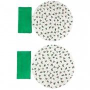 Box Christmas Azevinho verde c/4 peças