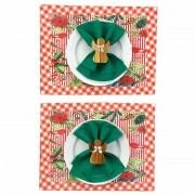Box Christmas Bird Jantar c/ 8 peças