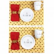 Box Floral Café da Manhã, c/ 10 peças, coleção exclusiva PS I love you