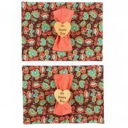 Box Floral Coral Oh Happy Day c/ 6 peças