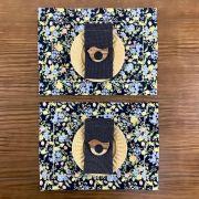 Box  Floral Preto com poá c/ 8 peças