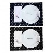 Box Mesa Posta, p/ almoço ou jantar, Mini Hearts c/6 Peças, coleção exclusiva Garden