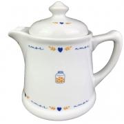 Bule Cafeteira 700ml em Porcelana, Coleção Exclusiva Poções de Amor