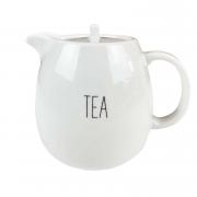 Bule Tea, em porcelana, 500 ml, coleção exclusiva Lettering