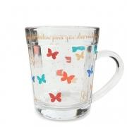 Caneca Americana Butterfly , vidro, 270 ml