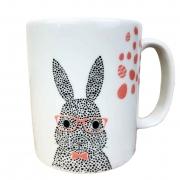 Caneca Bunny, em porcelana 300ml, coleção exclusiva Jardim de Páscoa