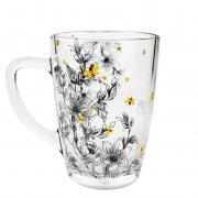 Caneca em Vidro 300 ml Coleção Exclusiva Garden Bee