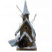 Casinha Decorativa Torre 32 cm c/iluminação