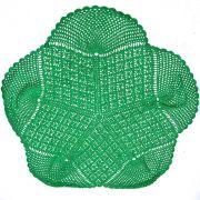 Centro de Mesa em Crochê Verde Bandeira