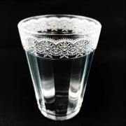 Copo Americano em vidro, 190 ml, Coleção Rendas
