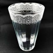 Copo Americano em vidro, 450 ml, Coleção Rendas