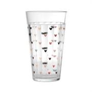 Copo Americano em vidro, 450 ml, Hearts Colors