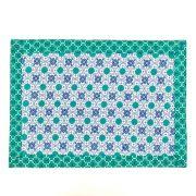 Jogo Americano p/ 2 Lugares Dupla Face em Algodão 45cm Azul e Verde