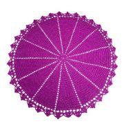 Jogo Americano p/2 lugares em Crochê Pink Fuchsia, 36 cm