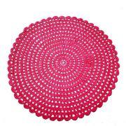 Jogo Americano p/4 lugares em Crochê Rosa Pink, 36 cm