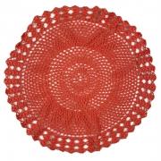 Jogo Americano p/ 2 Lugares em Crochê Coral 36cm