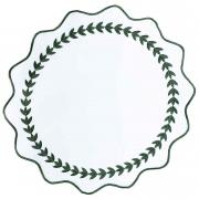 Jogo Americano p/2 lugares em linho com bordado Verde, 36 cm diâmetro