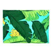 Jogo Americano p/2 Lugares em sarja, 45 cm, dupla face, Tropical Azul Tiffany e listras