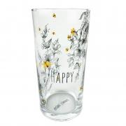 Jogo c/2 Copos Long Drink em vidro, 300 ml, coleção exclusiva Garden Bee