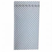 Jogo c/2 Guardanapos duplos, 100% algodão, 43 cm com acabamento bordado, poá preto