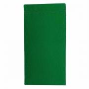 Jogo c/ 2 Guardanapos Duplos 100% Algodão Acabamento Bordado Verde Esmeralda 43cm