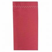 Jogo c/ 2 Guardanapos duplos, 100% algodão, com acabamento bordado, Rosa Goiaba