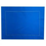Jogo c/ 2 Lugares Americanos Dupla Face Algodão Azul e Verde c/ Acabamento Bordado 44cm