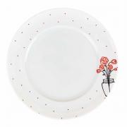 Prato p/ Sobremesa, 21 cm em Porcelana, Coleção Exclusiva Garden Roses