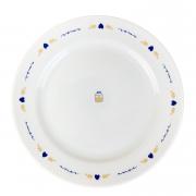 Jogo c/2 Pratos p/Sobremesa, em porcelana, 20cm, coleção exclusiva Poções de Amor c/aba