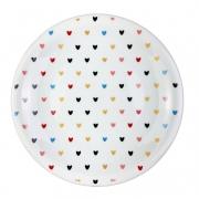 Jogo c/ 2 Pratos Sobremesa, em porcelana 18,7 cm diâmetro Heart Colors