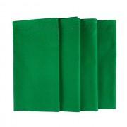 Jogo c/ 4 Guardanapos Verde Bandeira duplos