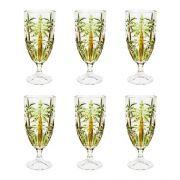 Jogo c/6 Taças de Cristal Palm Tree