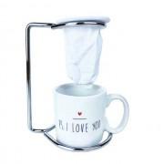 Jogo Coffee Break c/ coador PS I love you