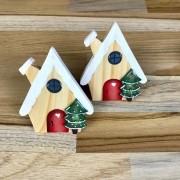 Jogo com 2 Argolas Christmas Home madeira