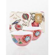Jogo c/2 bowls, 12 cm , porcelana holandesa Pip Studio, coleção Spring to Life Rosa
