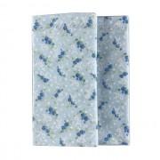 Jogo com 2 Guardanapos Azul Claro com Flores e Arabescos duplos